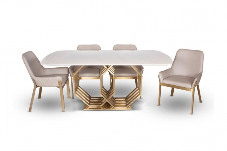 Hexagon Dining+6 Chairs